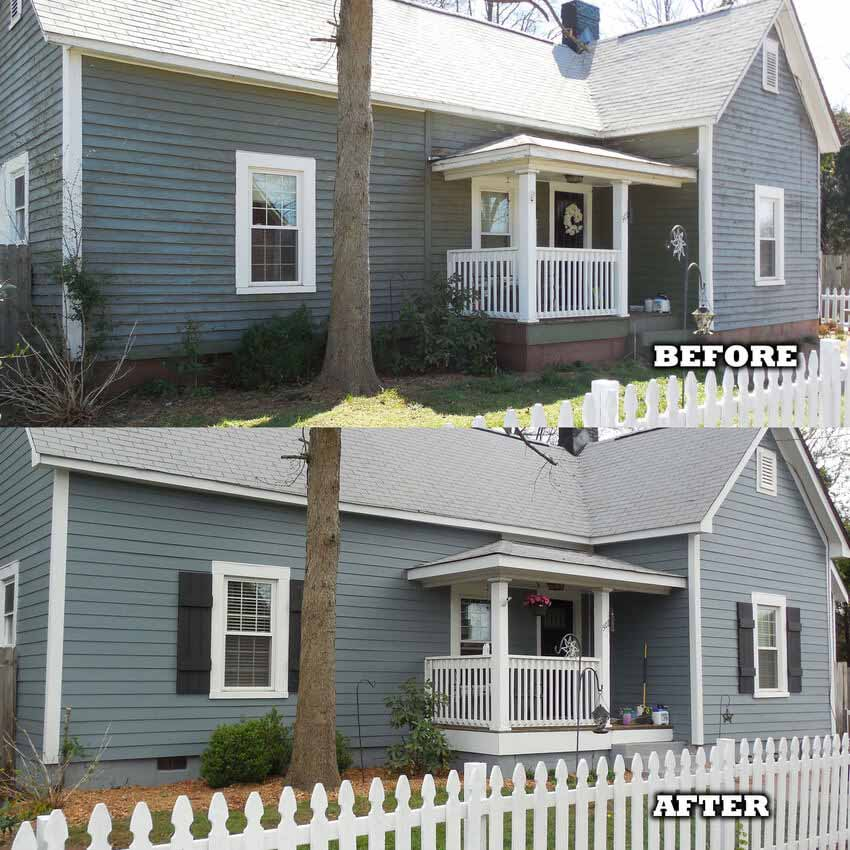 Before and After Siding Repair