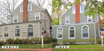 Before and After Siding Replacement