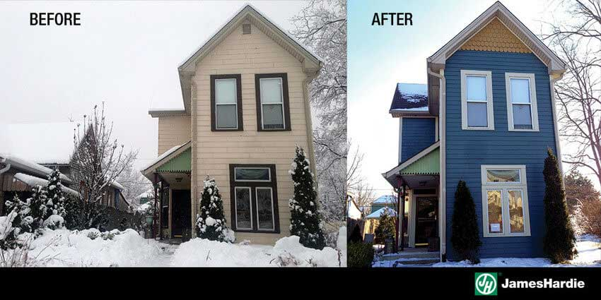 Before and After Home Improvement