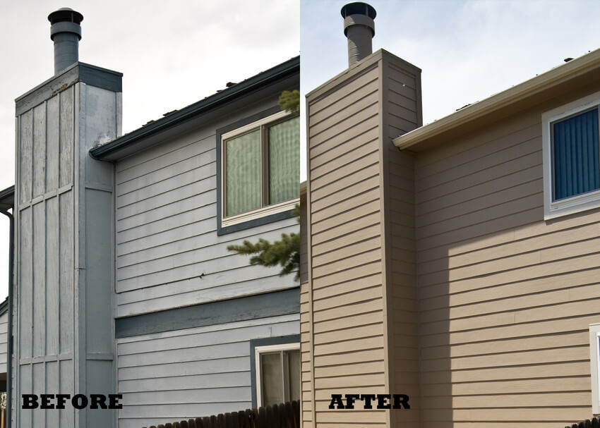Before and After Exterior Siding Replacement
