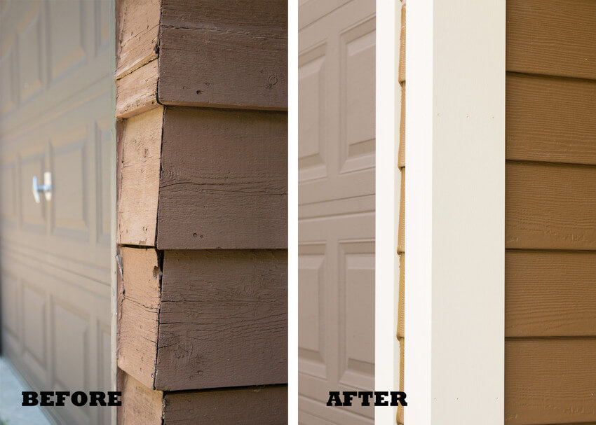 Before and After Home Siding Repair