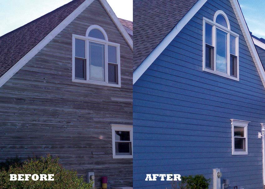 Before and After Siding Installation