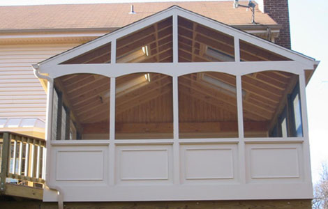 covered porch installation