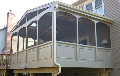 covered porch replacement
