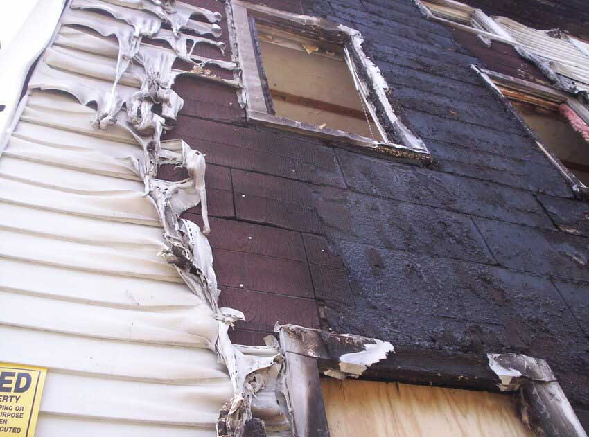 Replace Fire Damaged Siding