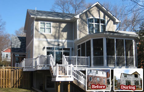 Before and After Porch and Deck Addition